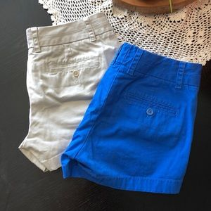 Set of 2 J.Crew Women's Chino Shorts size 2